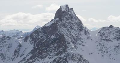4K Aerial Alaska Mountain Stock Footage