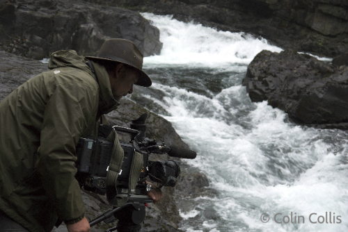 Richard Kirby filming at Elk Falls(1)